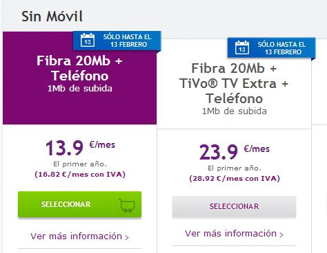 Imagen - Ono baja el precio de su fibra óptica de 20 megas hasta los 13.90 euros mensuales