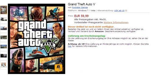 Imagen - Amazon Alemania filtra precio y disponibilidad de Grand Theft Auto V para PC