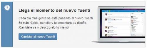 Imagen - Tuenti solicita a los usuarios que se actualicen al nuevo Tuenti