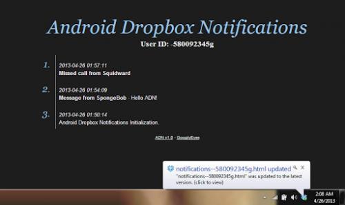 Imagen - Android Dropbox Notifications, todas los avisos en nuestro escritorio