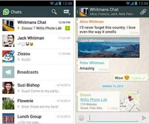 Imagen - WhatsApp se actualiza y cambia la interfaz a Holo