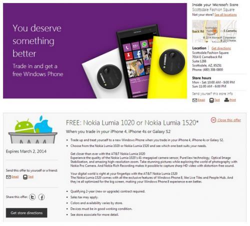 Imagen - Microsoft cambia tu iPhone o Samsung por un Nokia Lumia