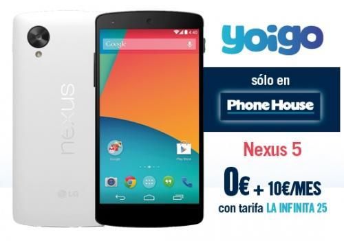 Imagen - Nexus 5 a 0 euros con Yoigo