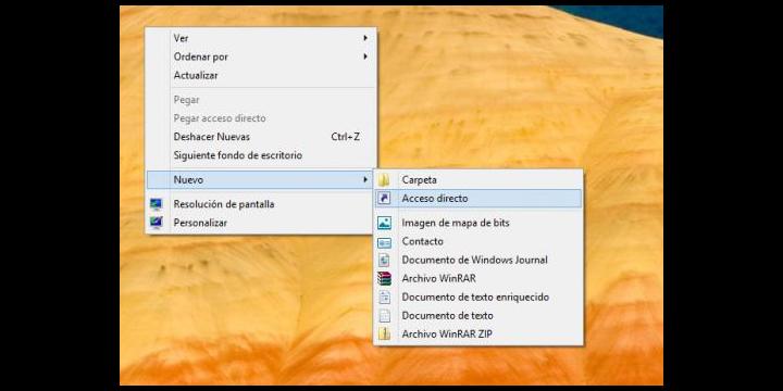 Crear un acceso directo para apagar Windows