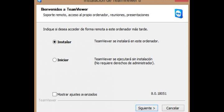 Compartir el escritorio con TeamViewer