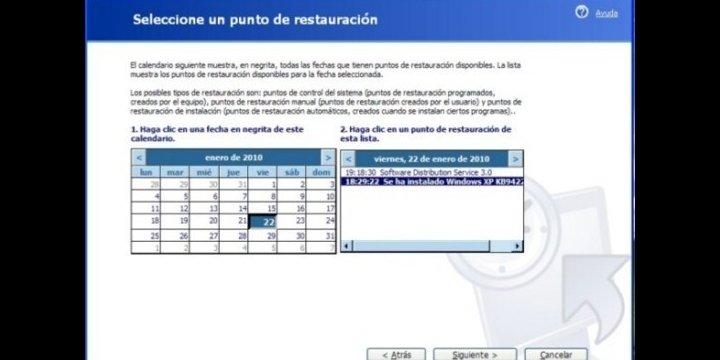 Restaurar el sistema con Windows