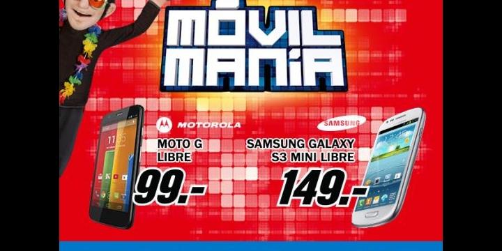 Motorola Moto G y Samsung Galaxy S3 Mini por 99 y 149 euros respectivamente