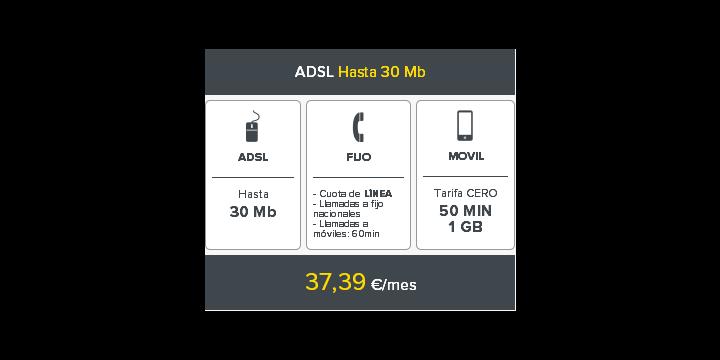 MÁSMÓVIL lanza su oferta combinada de ADSL, Fibra, móvil y fijo