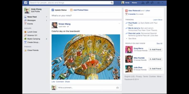 Facebook renueva completamente el timeline