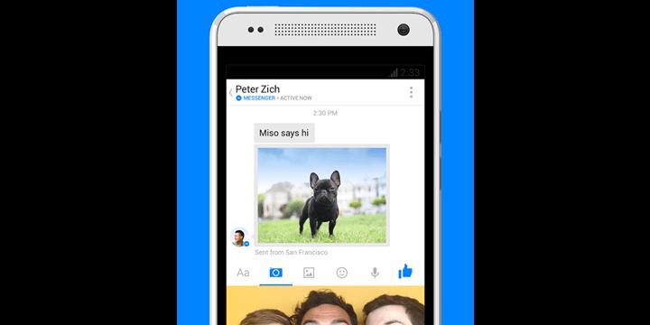 Facebook Messenger se actualiza con selfies y más stickers