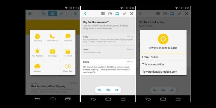 Mailbox, el cliente de Dropbox para iOS, llega a Android