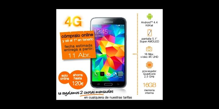 Samsung Galaxy S5 a la venta el 11 de abril: Orange ya lo tiene