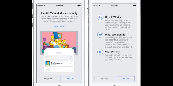 Facebook reconocerá canciones, películas y series como Shazam