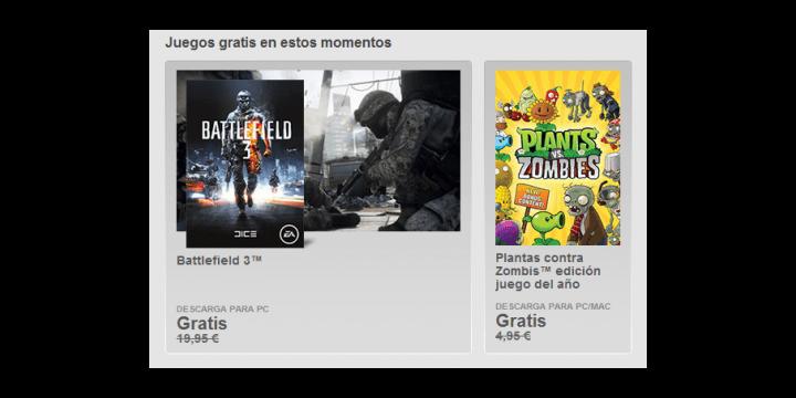 Descarga Battlefield 3 y Plantas contra Zombis para ordenador gratis