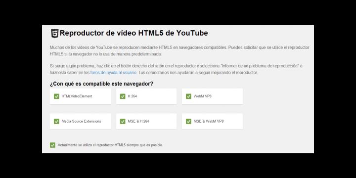 YouTube utilizará el reproductor HTML 5 en vez de Flash