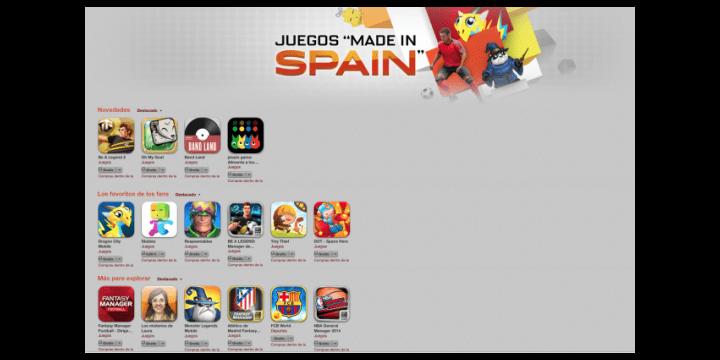 """App Store estrena la sección Juegos """"Made in Spain"""""""