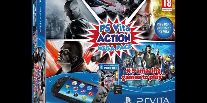 Action Mega Pack: Cinco juegos, una PS Vita y una tarjeta de memoria de 8GB por 199,99 €