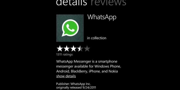 WhatsApp desaparece de la tienda de apps de Windows Phone