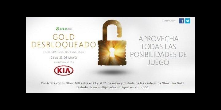 Xbox Live Gold gratis para Xbox 360 durante este fin de semana