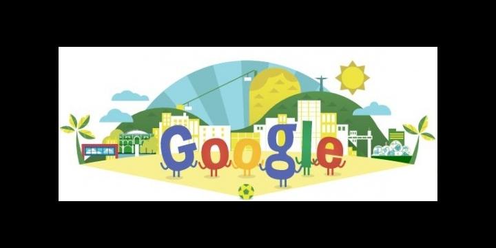 Google dedica su Doodle al Mundial de Brasil 2014