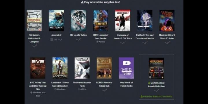 4 juegos, 6 DLC, un acceso Beta y un mes de Twitch Turbo por menos de un euro