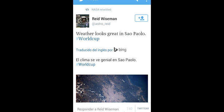 Twitter traduce los tweets en el móvil