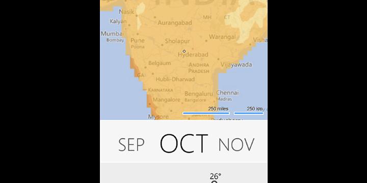 Climatology, la app del tiempo de Microsoft para Android y Windows Phone