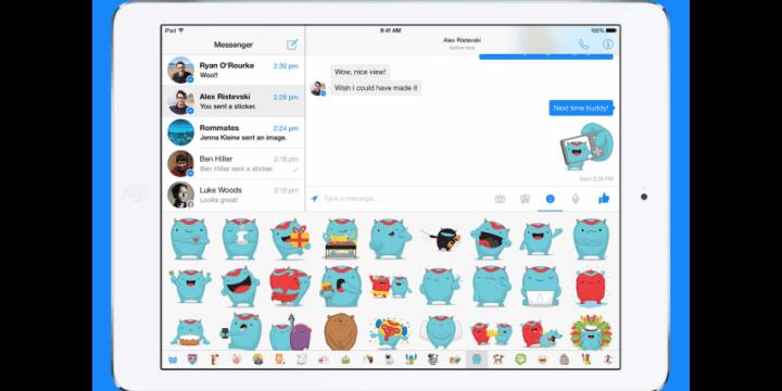 Facebook Messenger ahora en el iPad