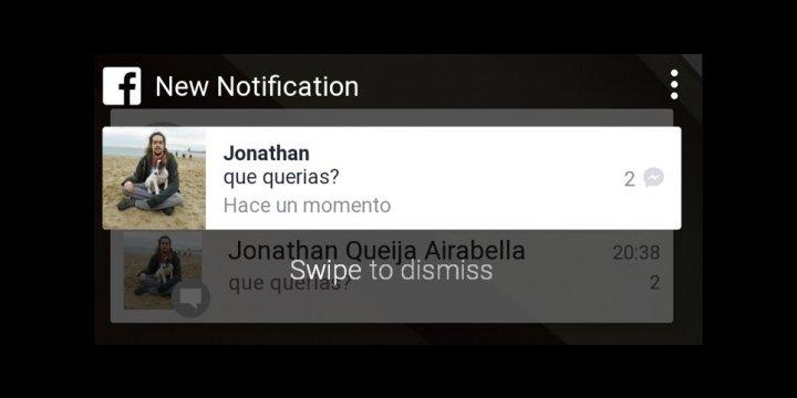 Facebook prepara nuevas notificaciones al estilo Android L