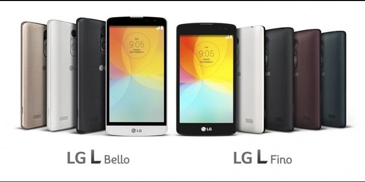 LG L Fino y L Bello, gama media y diseño G3