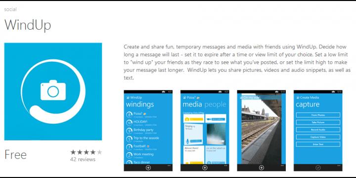 WindUP, el Snapchat de Microsoft