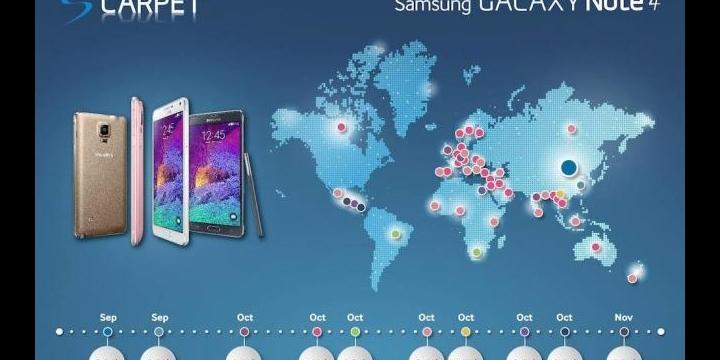 Samsung Galaxy Note 4 saldrá el 17 de octubre