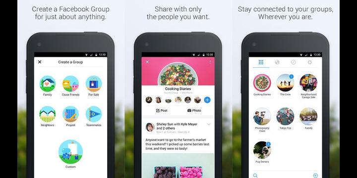Facebook Groups para Android: la red social lanza otra app más