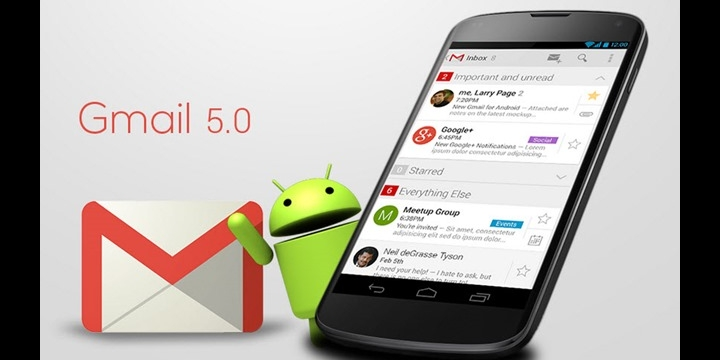 Gmail 5.0 ya está disponible: soporte multicuenta con Material Design