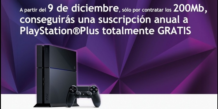 ONO regala un año de PlayStation Plus a quien contrate 200 megas
