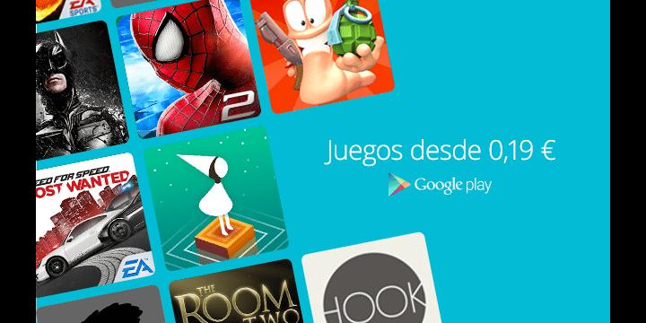 Google Play ofrece 24 juegos para Android por menos de 1 euro cada uno