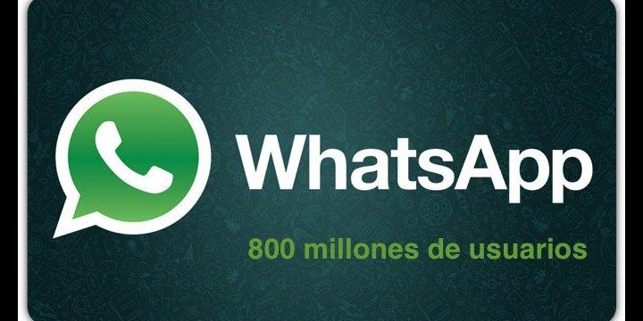 WhatsApp alcanza los 800 millones de usuarios