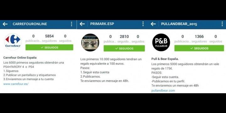 Pull and Bear no está repartiendo tickets regalo por Instagram