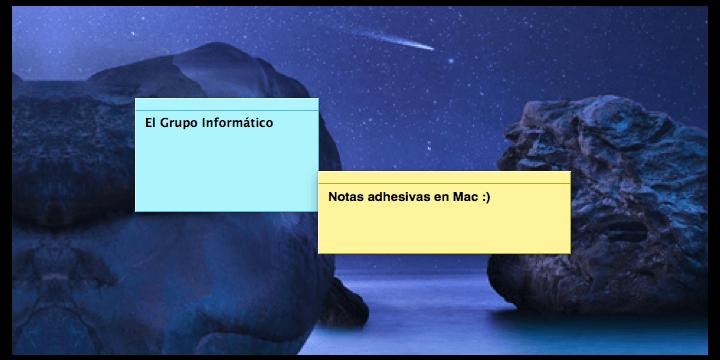 Cómo poner notas en el escritorio de Mac