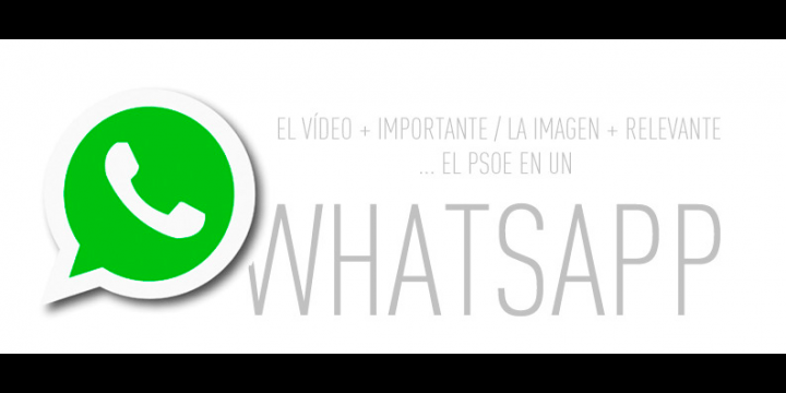 Los partidos políticos utilizan WhatsApp para hacer campaña