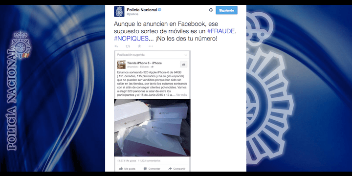 Un sorteo de 320 iPhones en Facebook: estafa viral