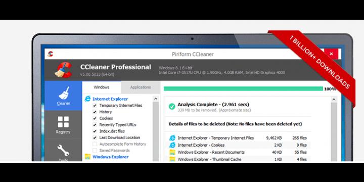 Microsoft no recomienda CCleaner en Windows 10
