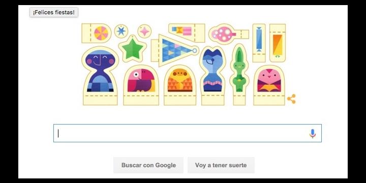 Google nos desea Felices Fiestas con un Doodle
