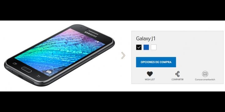 7 webs dónde comprar el Samsung Galaxy J1