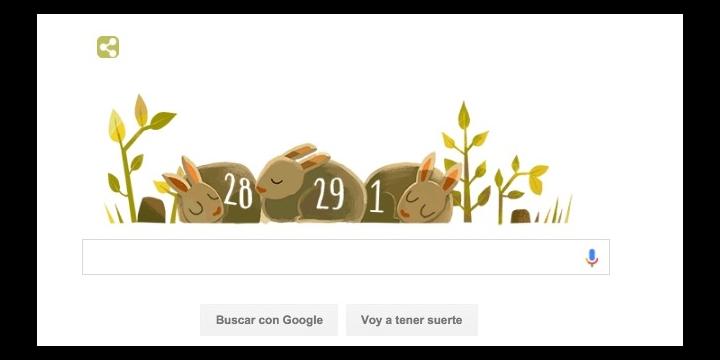 Google celebra el Año bisiesto con un Doodle
