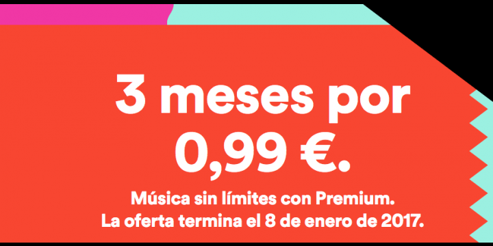 Consigue 3 meses de Spotify Premium por 0,99 €