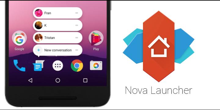 Nova Launcher se actualiza con contadores