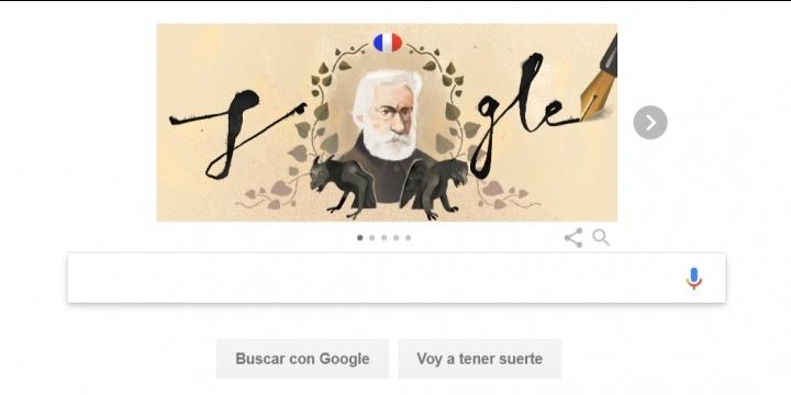 Google dedica un Doodle a Victor Hugo por el 155 aniversario de Los Miserables