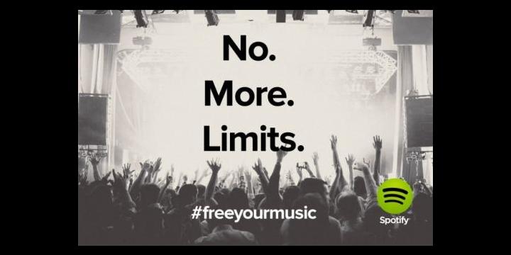 Escucha ya Spotify sin límites y gratis