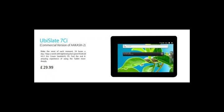 UbiSlate 7Ci, el tablet más barato llega a un precio de 35 euros